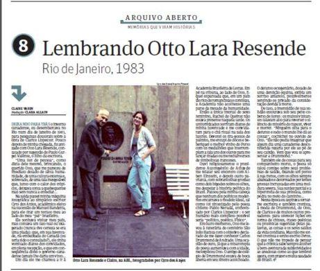Folha de SP Lembrando Otto