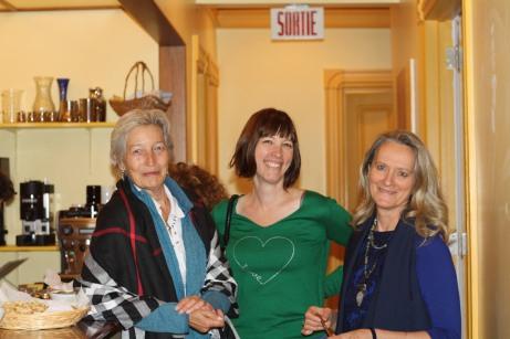 Carole Leroy, Julie Mackay et Claire Varin. Photo Lucie Varin